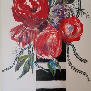 (CreativeWork) Bunch of Aussie flowers by Maria Cross. mixed-media. Shop online at Bluethumb.