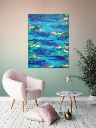 (CreativeWork) Inhale Monet by Belinda Nadwie. Oil Paint. Shop online at Bluethumb.