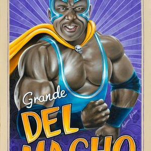 (CreativeWork) Grande Del Macho by Melissa Ritchie. arcylic-painting. Shop online at Bluethumb.