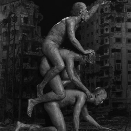 (CreativeWork) Monument by Ben Howe. Oil Paint. Shop online at Bluethumb.