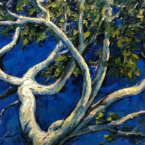 (CreativeWork) Gum tree iV by Fangmin Wu. oil-painting. Shop online at Bluethumb.