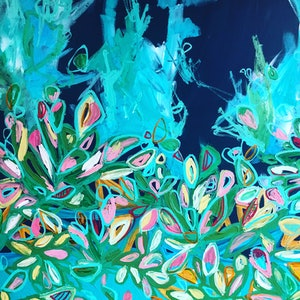 (CreativeWork) Cactus Flower by Jonathan Gemmell. arcylic-painting. Shop online at Bluethumb.