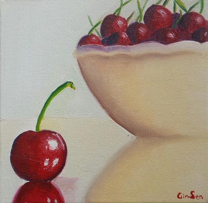 (CreativeWork) Alone by Gin Sen. oil-painting. Shop online at Bluethumb.