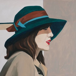 (CreativeWork) Irene by Bridgette McNab. oil-painting. Shop online at Bluethumb.