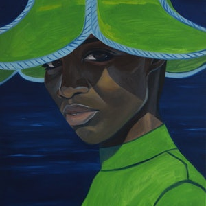 (CreativeWork) Simone by Bridgette McNab. oil-painting. Shop online at Bluethumb.