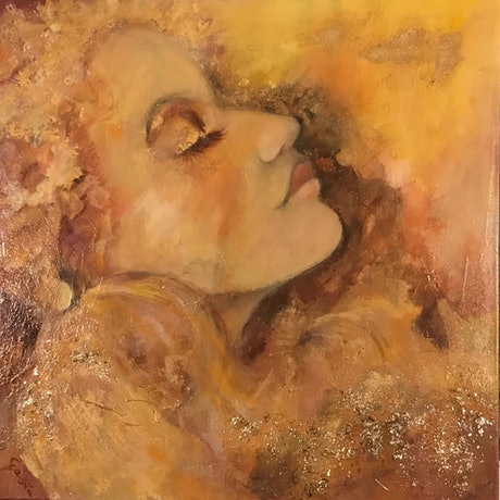(CreativeWork) Amber by Gosia Orzechowska. Mixed Media. Shop online at Bluethumb.