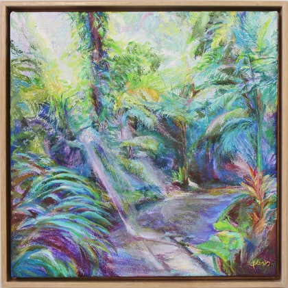 (CreativeWork) Fern Gully no. 1 by In Sun Park. oil-painting. Shop online at Bluethumb.
