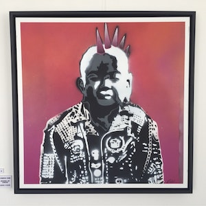 (CreativeWork) Camden Punk by Adam Todd. arcylic-painting. Shop online at Bluethumb.