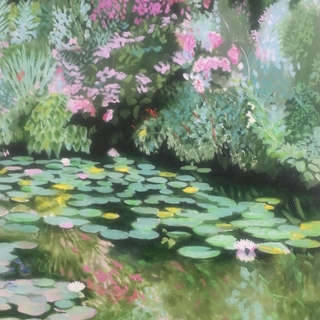 (CreativeWork) Reflections, Giverny by Christopher Steele. Watercolour Paint. Shop online at Bluethumb.