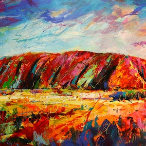 (CreativeWork) Uluru by Jos Coufreur. #<Filter:0x000056101931c340>. Shop online at Bluethumb.