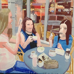(CreativeWork) Coffee? by Joshua Escaravage. arcylic-painting. Shop online at Bluethumb.