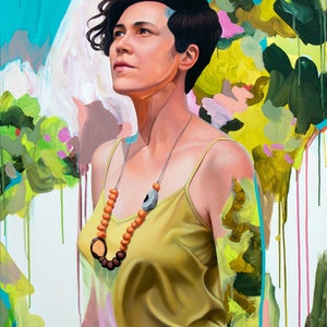 (CreativeWork) Tamara  by Kim Leutwyler. oil-painting. Shop online at Bluethumb.