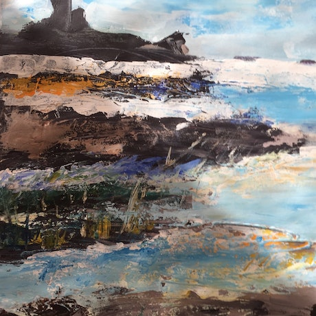 (CreativeWork) Castles in the Sky by Deidre Ogilvie. Acrylic Paint. Shop online at Bluethumb.