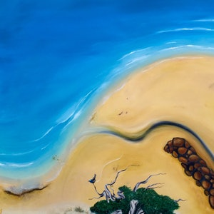 (CreativeWork) The creek by Tony Yallop. oil-painting. Shop online at Bluethumb.