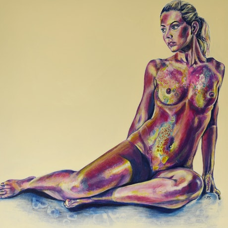 (CreativeWork) Disclosure #8 by Carli Wilson. Acrylic Paint. Shop online at Bluethumb.