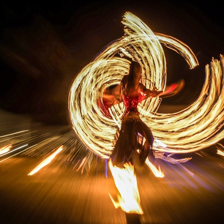(CreativeWork) Woman in Fire by Rudiger Wasser. Photograph. Shop online at Bluethumb.