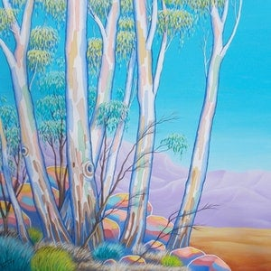 (CreativeWork) GUM GROVE  by Saadah Kent. acrylic-painting. Shop online at Bluethumb.