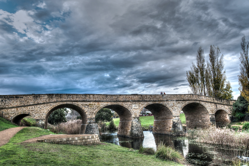 (CreativeWork) Walking over history - Tasmania, Richmond Bridge by Rudiger Wasser. photograph. Shop online at Bluethumb.
