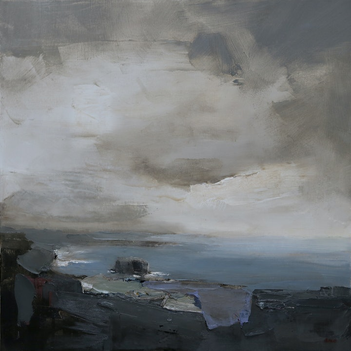 (CreativeWork) View to the North by Steve Salo. oil-painting. Shop online at Bluethumb.