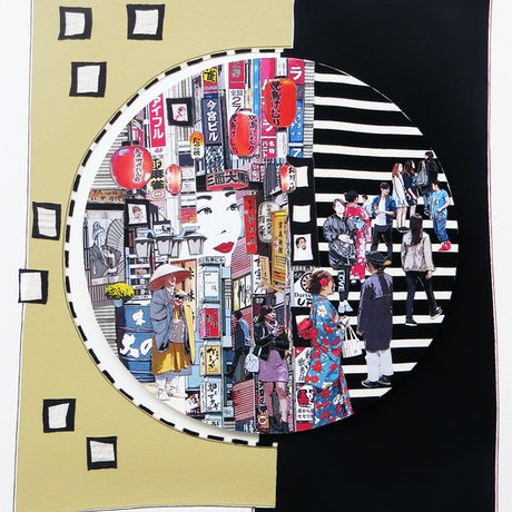 (CreativeWork) Crossroads by Robyn Kennedy. Mixed Media. Shop online at Bluethumb.