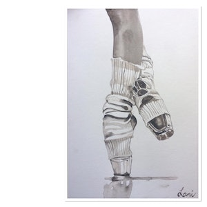 (CreativeWork) The Pointe by Lani Kay. watercolour. Shop online at Bluethumb.