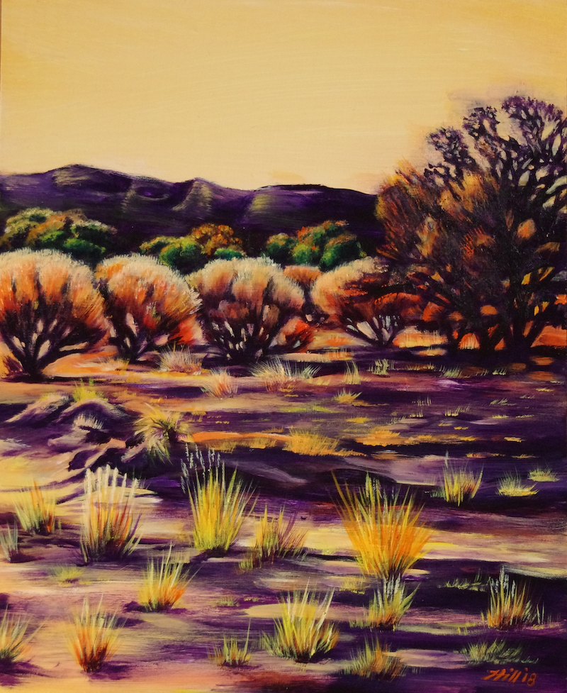 (CreativeWork) Morninglight by Joanne Hill. arcylic-painting. Shop online at Bluethumb.