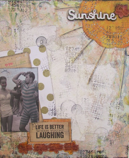 (CreativeWork) Life is better when you're laughing by Sandra Carey. mixed-media. Shop online at Bluethumb.