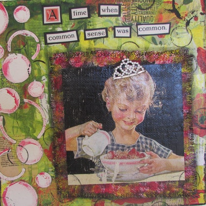 (CreativeWork) A time when... by Sandra Carey. mixed-media. Shop online at Bluethumb.
