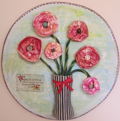 (CreativeWork) The small things in life by Sandra Carey. mixed-media. Shop online at Bluethumb.