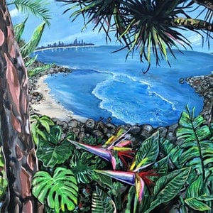 (CreativeWork) Location, location by Lee Murphy. arcylic-painting. Shop online at Bluethumb.