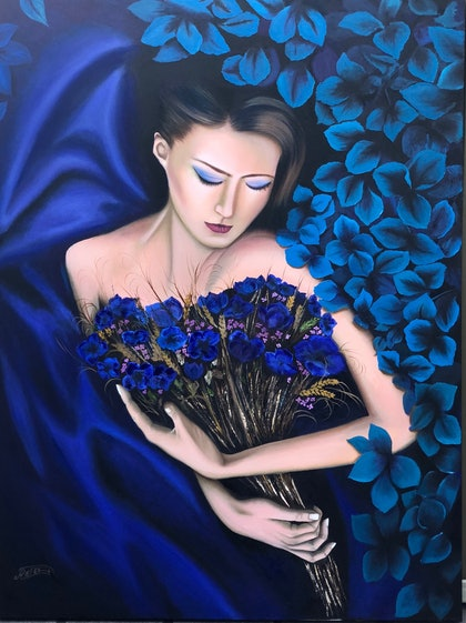 (CreativeWork) The secret of creation by atefeh hekmat. oil-painting. Shop online at Bluethumb.