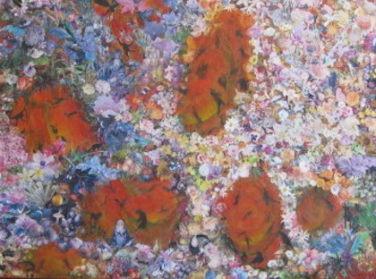 (CreativeWork) A Fragile Utopia by Coral Saunders. mixed-media. Shop online at Bluethumb.