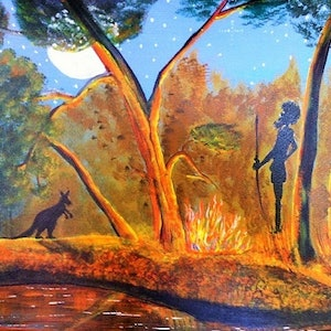 (CreativeWork) Fiery Day by Janine H. arcylic-painting. Shop online at Bluethumb.