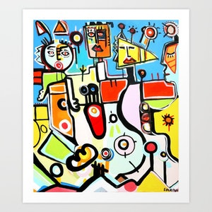 (CreativeWork) KARNIVAL 15 limited edition print Ed. 1 of 100 by DEREK ERSKINE. print. Shop online at Bluethumb.