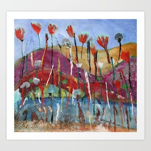 (CreativeWork) SUMMER WILDFLOWERS Ed. 1 of 100 by DEREK ERSKINE. print. Shop online at Bluethumb.