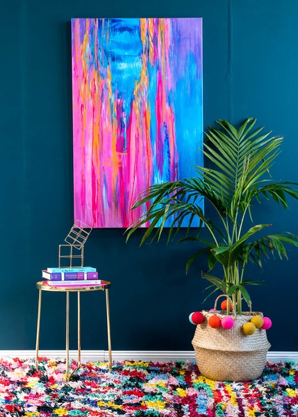 (CreativeWork) Shangri La by Anne-Maree Wise. arcylic-painting. Shop online at Bluethumb.