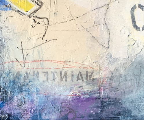 (CreativeWork) Open by Nicole Fearfield. Mixed Media. Shop online at Bluethumb.