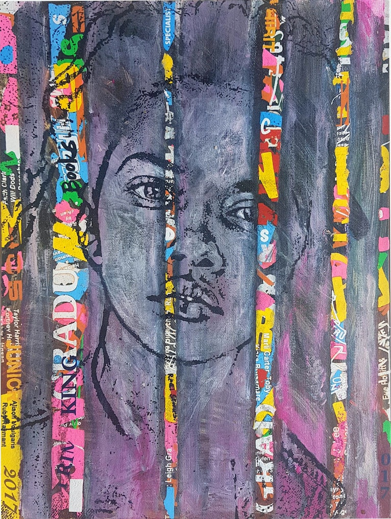 (CreativeWork) Totems by Darren King. mixed-media. Shop online at Bluethumb.