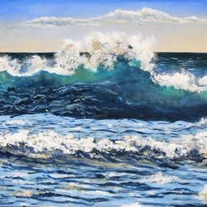 (CreativeWork) Beach2 by Sevda Amini. arcylic-painting. Shop online at Bluethumb.