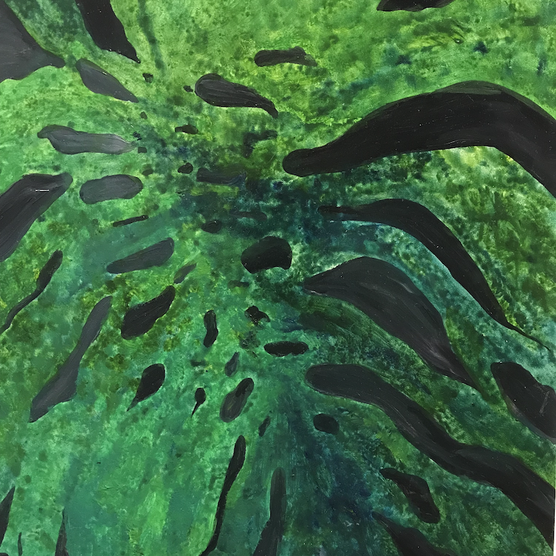 (CreativeWork) Monstera by Mary-Anne Stuart. oil-painting. Shop online at Bluethumb.