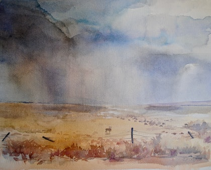 (CreativeWork) At Last by Carol Croad. watercolour. Shop online at Bluethumb.