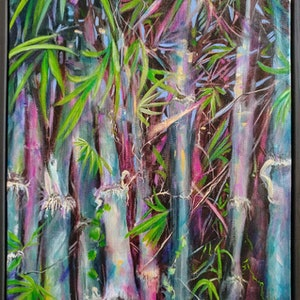 (CreativeWork) The Tropics by Cathy Gilday. arcylic-painting. Shop online at Bluethumb.
