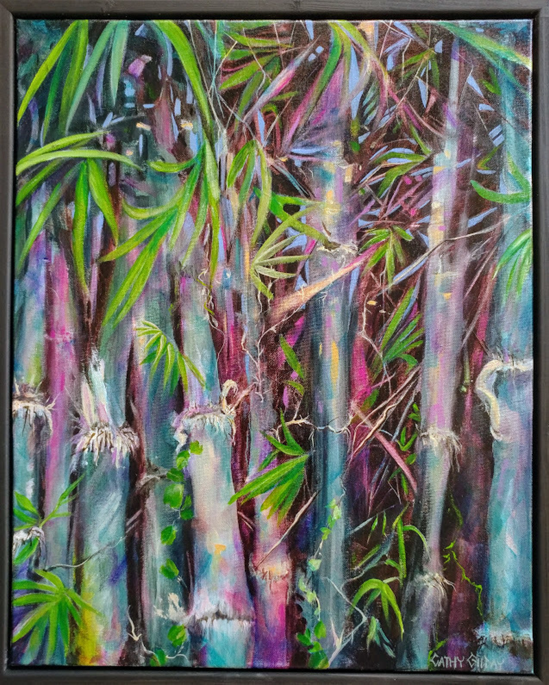 (CreativeWork) The Tropics by Cathy Gilday. Acrylic Paint. Shop online at Bluethumb.
