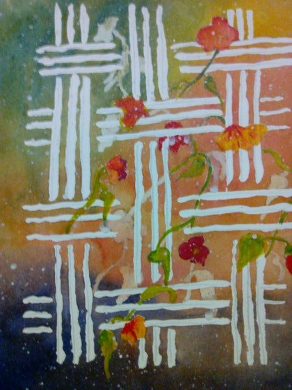 (CreativeWork) The Connection  by Lynette Carroll. watercolour. Shop online at Bluethumb.