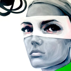 (CreativeWork) Lime Green Jumper by Jac Clark. arcylic-painting. Shop online at Bluethumb.