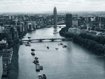 (CreativeWork) The Thames by Stella Kassapidis. photograph. Shop online at Bluethumb.