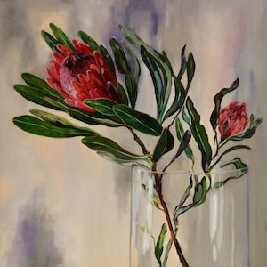 (CreativeWork) 'Sway' by Jackie Moss. oil-painting. Shop online at Bluethumb.