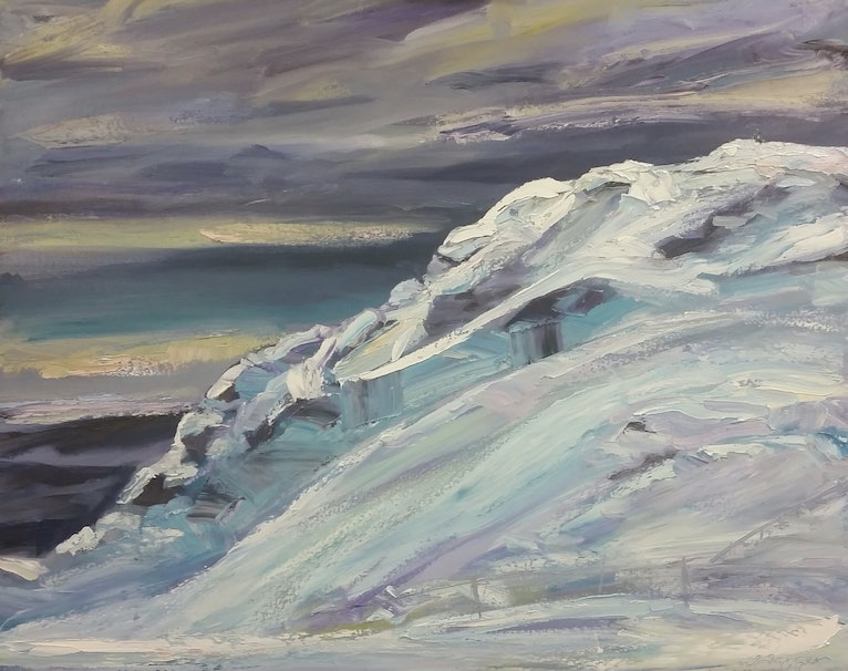 (CreativeWork) Towards The Summit by Wendy Jagger. oil-painting. Shop online at Bluethumb.