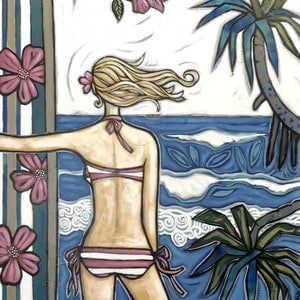 (CreativeWork) Noosa First Point by Sarah Thomas. arcylic-painting. Shop online at Bluethumb.