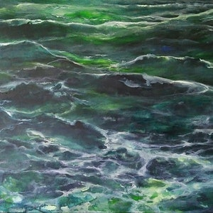 (CreativeWork) OCEAN by Judith Devey-Deitz. arcylic-painting. Shop online at Bluethumb.